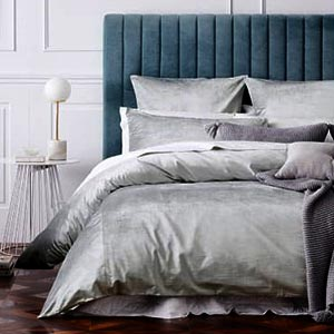Fabric bed with side tables - 3