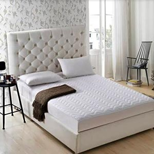 Fabric bed with side tables