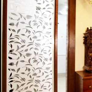 Partition Panel or Mandir With Complete Wood Work and Light Fitting5