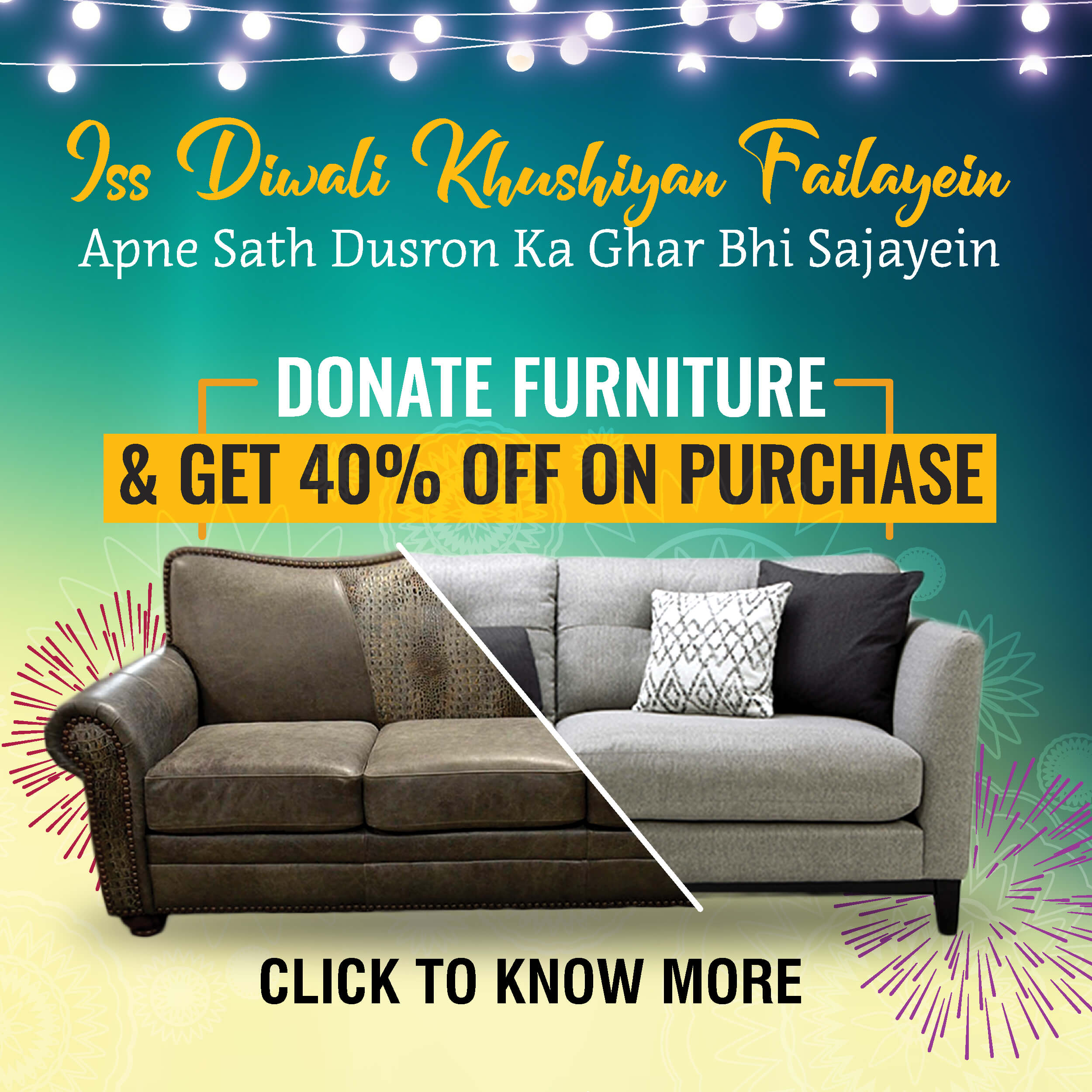 This Diwali Donate Your Old Furniture With Niyash Studio